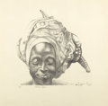 Fine Art - Work on Paper:Print, JOHN BIGGERS (American, 1924-2001). Dancing Woman, 2000. Lithograph on paper. 20 x 20 inches (50.8 x 50.8 cm). Ed. 8/8. ...
