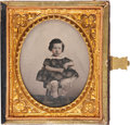 Photography:Ambrotypes, Sixth Plate Ambrotype: Portrait of a Little Girl, Circa 1861....