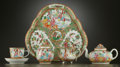 Asian:China Trade, A CHINESE EXPORT PORCELAIN SOLITAIRE SERVICE . China, circa 1900.12 inches diameter of tray (30.5 cm). ... (Total: 8 Items)