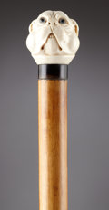 Decorative Arts, Continental:Other , A CONTINENTAL IVORY HANDLE WALKING STICK . possibly Germany, circa 1890-1900. Unmarked. 32 inches long (81.3 cm). ...