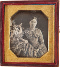 Photography:Daguerreotypes, Sixth Plate Daguerreotype: Portrait of a Young Woman, Circa 1848....