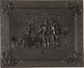 """Photography:Daguerreotypes, Quarter Plate Thermoplastic Photo Case: """"The Sweet Potato Dinner""""or """"General Marion in His Swamp Encampment Inviting a Britis..."""