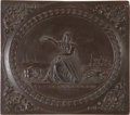 """Photography:Daguerreotypes, Sixth Plate Thermoplastic Photo Case: """"Seated Liberty with Shield""""(Front) and """"Seated Liberty with Shield and Stars"""" (Reverse..."""