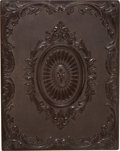 Photography:Ambrotypes, Full Plate Thermoplastic Photo Case, Circa 1860....