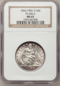 Seated Half Dollars, 1856/1856-O 50C MS63 NGC....