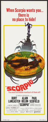 "Scorpio Lot (United Artists, 1973). Inserts (2) (14"" X 36"") Regular and Style B. Thriller. ... (Total: 2 Items..."