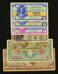 Military Payment Certificates:Series 461, MPC Group Lot Seven Examples Good or Better.. ... (Total: 7 notes)