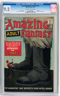 Amazing Adult Fantasy #14 (Marvel, 1962) CGC NM- 9.2 Off-white to white pages