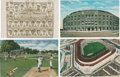 Baseball Collectibles:Others, New York Yankees Vintage Postcards Lot Of 4....