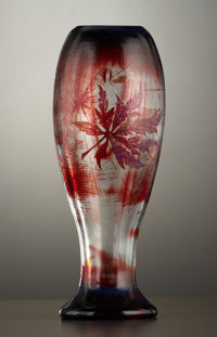 A FRENCH ART GLASS VASE Émile Gallé, Nancy, France, circa 1895 Marks: Galle, Modele et Deur Depose