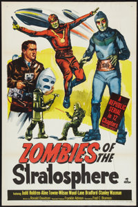 "Zombies of the Stratosphere (Republic, 1952). One Sheet (27"" X 41""). Serial"