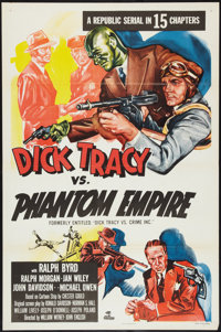 "Dick Tracy vs. the Phantom Empire (Republic, R-1952). One Sheet (27"" X 41"") Flat-Folded. Serial. Formerly know..."