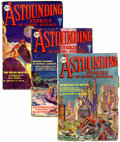Pulps:Science Fiction, Astounding Stories April-June 1930 Group (Clayton, 1930)....(Total: 3 Items)