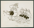 "Movie Posters:Animated, Donald Duck in ""Fire Chief"" (RKO, 1940). Photos (3) (8"" X 10""). Animated.. ... (Total: 3 Items)"