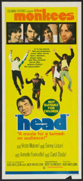 "Movie Posters:Rock and Roll, Head (Columbia, 1968). Australian Daybill (13.5"" X 30""). Rock andRoll.. ..."