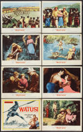 """Movie Posters:Adventure, Watusi (MGM, 1959). Lobby Card Set of 8 (11"""" X 14""""). Adventure..... (Total: 8 Items)"""