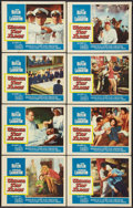 "Movie Posters:War, Under Ten Flags (Paramount, 1960). Lobby Card Set of 8 (11"" X 14"").War.. ... (Total: 8 Items)"