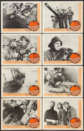 """Movie Posters:War, Submarine Attack (I.F.E. Releasing, R-1959). Lobby Card Set of 8(11"""" X 14"""") Re-released as Torpedo Zone. War.. ... (Total: 8Items)"""