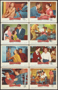 """Movie Posters:Crime, Unchained (Warner Brothers, 1955). Lobby Card Set of 8 (11"""" X 14"""").Crime.. ... (Total: 8 Items)"""