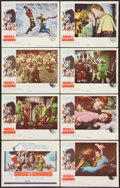 "Movie Posters:Adventure, Siege of the Saxons (Columbia, 1963). Lobby Card Set of 8 (11"" X 14""). Adventure.. ... (Total: 8 Items)"