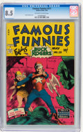 Golden Age (1938-1955):Science Fiction, Famous Funnies #211 (Eastern Color, 1954) CGC VF+ 8.5 Off-white towhite pages....