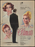 """Movie Posters:Drama, Climats (Rank, 1962). French Affiche (23.5"""" X 31.5""""). Drama.. ..."""