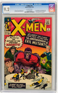 Silver Age (1956-1969):Superhero, X-Men #4 (Marvel, 1964) CGC NM- 9.2 Off-white pages....