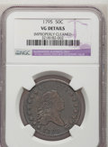 Early Half Dollars: , 1795 50C 2 Leaves--Improperly Cleaned--NGC Details. VG. NGC Census:(63/690). PCGS Population (134/1018). Mintage: 299,680....