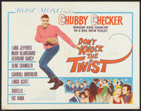 """Don't Knock the Twist (Columbia, 1962). Half Sheet (22"""" X 28""""). Rock and Roll"""