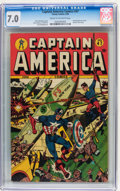 Golden Age (1938-1955):Superhero, Captain America Comics #47 (Timely, 1945) CGC FN/VF 7.0 Cream to off-white pages....