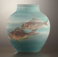 Ceramics & Porcelain, American:Modern  (1900 1949)  , AN AMERICAN ART POTTERY VASE . Rookwood Pottery, Cincinnati, Ohio,1907. Decorated by Edward Timothy Hurley (1869-1950). Mar...
