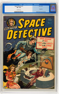 Space Detective #1 (Avon, 1951) CGC VF+ 8.5 Off-white pages