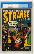 Golden Age (1938-1955):Horror, Strange Tales #16 River City pedigree (Atlas, 1953) CGC VF/NM 9.0Cream to off-white pages....