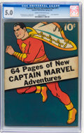 Golden Age (1938-1955):Superhero, Captain Marvel Adventures #nn (#1) (Fawcett, 1941) CGC VG/FN 5.0 Cream to off-white pages....