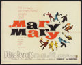 """Movie Posters:Comedy, Mary, Mary (Warner Brothers, 1963). Half Sheet (22"""" X 28"""").Comedy.. ..."""