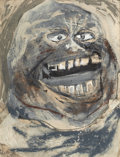Fine Art - Painting, American:Modern  (1900 1949)  , WILLIAM GROPPER (American, 1897-1977). Portrait of a Man.Mixed media on paper. 25 x 18-1/2 inches (63.5 x 47.0 cm). Sig...