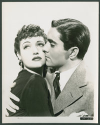 "Tyrone Power and Dorothy Lamour in ""Johnny Apollo"" (20th Century Fox, 1940). Portrait (8"" X 10""). Cr..."