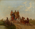 Fine Art - Painting, European:Antique  (Pre 1900), PROPERTY OF A LADY. CHARLES COOPER HENDERSON (British, 1803-1877).The London, Cambridge and Newmarket Royal Mail Ne...