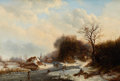 Fine Art - Painting, European:Antique  (Pre 1900), PROPERTY OF A LADY . DUTCH/BELGIAN SCHOOL (19th Century). WinterPastimes. Oil on canvas. 27 x 39-1/2 inches (68.6...