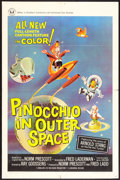 "Movie Posters:Animated, Pinocchio In Outer Space (Universal, 1965). One Sheet (27"" X 41"").Animated.. ..."