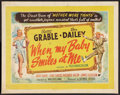 "Movie Posters:Musical, When My Baby Smiles at Me (20th Century Fox, 1948). British HalfSheet (22"" X 28""). Musical.. ..."