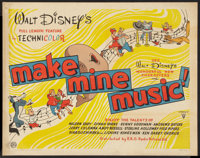 "Make Mine Music (RKO, 1946). British Half Sheet (22"" X 28""). Animated"