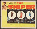 "Movie Posters:Crime, The Sniper (Columbia, 1952). Half Sheet (22"" X 28""). Crime.. ..."