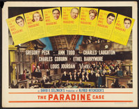 "The Paradine Case (Selznick, 1948). Half Sheet (22"" X 28"") Style B. Hitchcock"