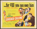 "Movie Posters:Drama, Chicago Calling (United Artists, 1951). Half Sheet (22"" X 28"")Style B. Drama.. ..."