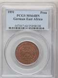 German East Africa, German East Africa: Wilhelm II Pesa 1891,...