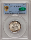 Washington Quarters, 1932-S 25C MS64+ PCGS Secure. CAC....