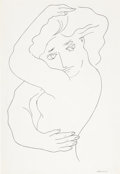 Post-War & Contemporary:Contemporary, MARIANO RODRIGUEZ (Cuban, 1912-1990). Untitled (Nude), 1976.Ink on paper. 19-3/4 x 13-3/4 inches (50.2 x 34.9 cm). Sign...