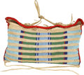 American Indian Art:Beadwork and Quillwork, A CROW BEADED BUFFALO HIDE TIPI BAG. c. 1890...