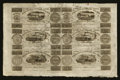 Canadian Currency: , Montreal, LC- Champlain & St. Lawrence Rail Road Company Bank 71/2d-15d-2s6d-7 1/2d-15d-2s6d Aug. 1, 1837 Uncut Sheet. ...